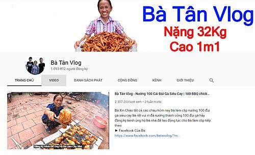Trang Youtube của Bà Tân Vlog.