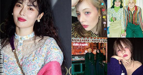 Nhan sắc ngày càng xuống cấp của Hyun Ah cũng gây nhiều tranh cãi. Từ khi công khai yêu đường, nữ ca sĩ ngày càng gầy gò, trang điểm theo style đáng sợ. Gần đây, cô nàng cũng khiến netizen nóng mắt vì sự cố lộ vòng 1 trên sân khấu.