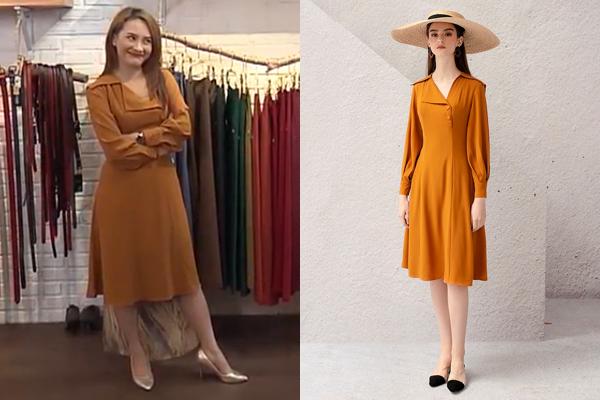 Các thiết kế mà Anh Thư mặc chủ yếu có màu sắc tươi sáng, chất liệu mềm mại, kiểu dáng nhẹ nhàng, phù hợp với tính cách của một cô gái điệu đà.