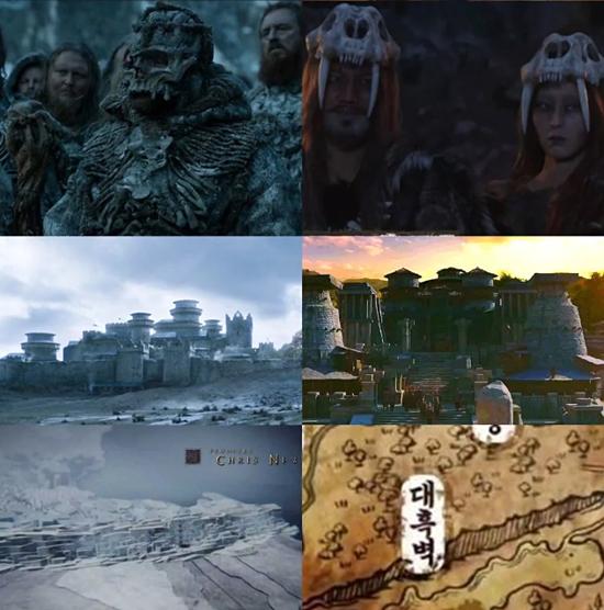 Bối cảnh phim cũng gợi nhớ đến những khung cảnh trong Game of Thrones.