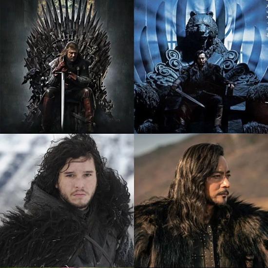 Tạo hình của nhân vật Tagon (Jang Dong Gun) được phát hiện giống với nhân vật Jon Snow trong Game of Thrones.