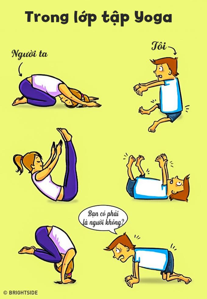 <p> Trong lớp tập yoga ai ai cũng có thể uốn dẻo, trừ bạn. Cơ thể cứng đơ như một tảng đá khiến bạn bất lực trong mọi động tác.</p>