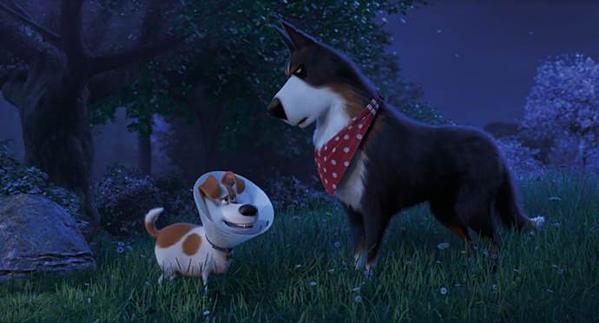 Rooster (trái) cực ngầu trong phần phim này.