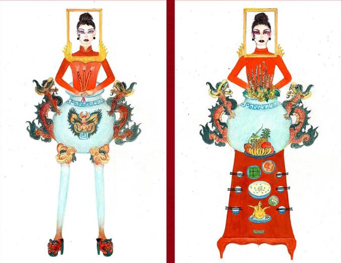 """<p> """"Bàn thờ"""" là thiết kế gây chú ý trong cuộc thi """"Tuyển chọn trang phục dân tộc cho Hoàng Thùy tại Miss Universe 2019"""". Bài thi gây tranh cãi khi lấy ý tưởng từ tục lệ thờ cúng thiêng liêng của người Việt. Chính tác giả cũng thừa nhận """"hơi lố"""" khi tạo ra sản phẩm này. Tuy nhiên sự xuất hiện của """"Bàn thờ"""" cho thấy cuộc thi thiết kế trang phục dân tộc cho đại diện Việt Nam tại Miss Universe đang nhận được nhiều bài thi độc đáo.</p>"""