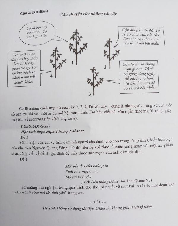 Đề Văn làm thơ của TP HCM khiến thí sinh vào 10 thích thú - 1