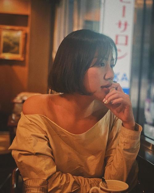 Văn Mai Hương khoe hình đi du lịch Tokyo.