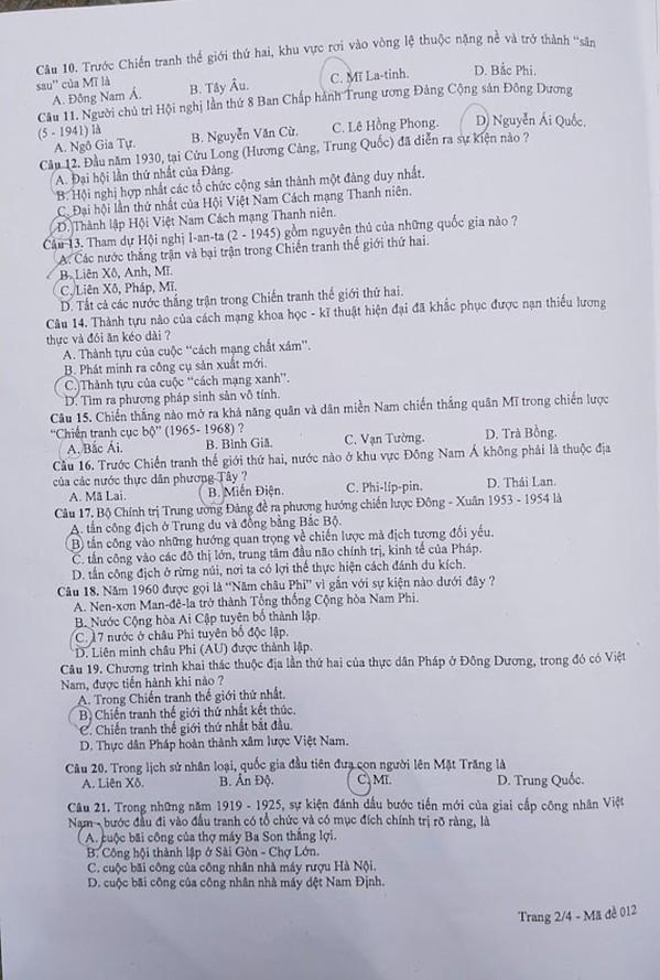 Đề thi Lịch sử vào 10 tại Hà Nội dễ dàng, nhiều thí sinh làm thừa thời gian - 1