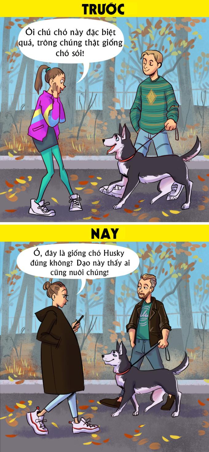 <p> Hiện nay những giống chó ngoại lai đã dần trở nên quen thuộc.</p>