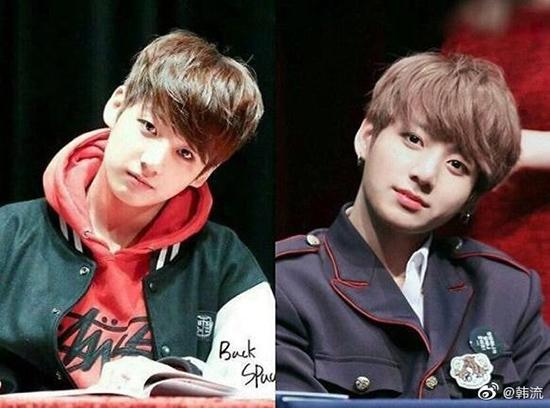 Netizen khen ngợi màn dậy thì thành công của Jung Kook, V (BTS) - 1