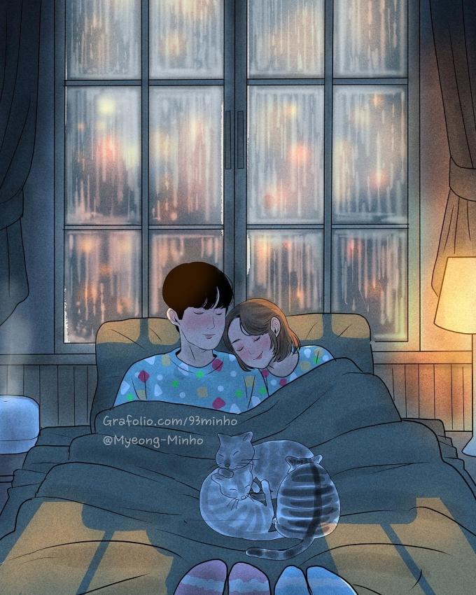 <p> Hay những đêm mưa lớn, bạn được 'rúc vào lòng' người yêu để ngủ, để cảm nhận sự ấm áp và bình yên.</p>