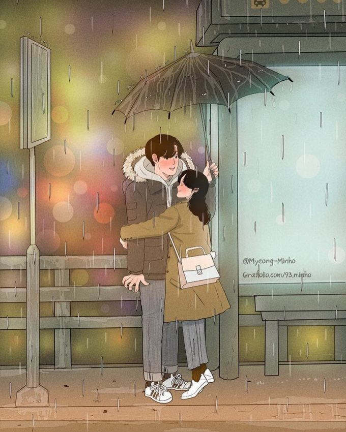 <p> Mỗi ngày mưa lạnh, chỉ cần một cái ôm ấm áp là đủ...</p>