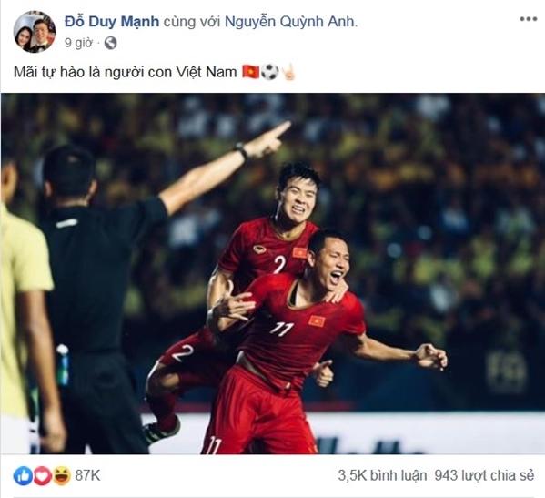 Sau 11 năm mới thắng Thái Lan, tuyển thủ Việt Nam ăn mừng nhận bão like