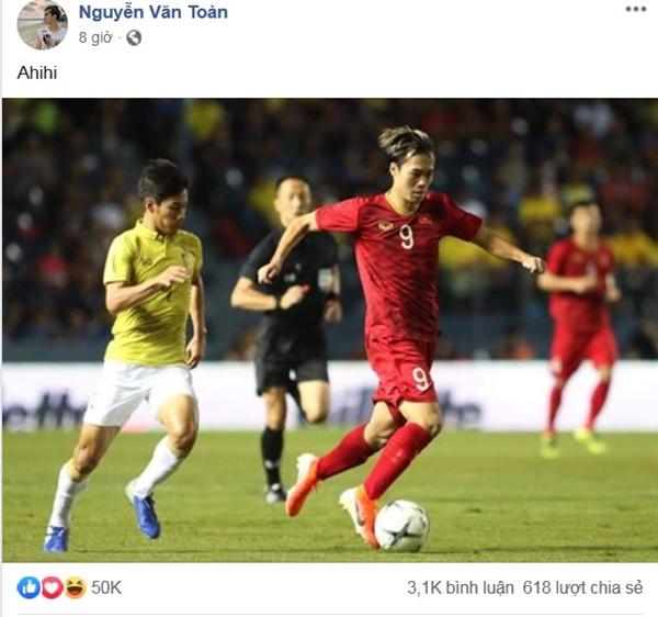 Sau 11 năm mới thắng Thái Lan, tuyển thủ Việt Nam ăn mừng nhận bão like  - 1