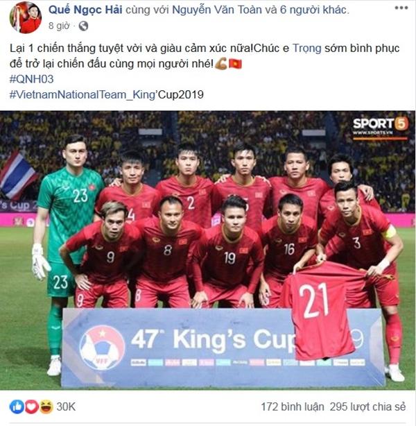Sau 11 năm mới thắng Thái Lan, tuyển thủ Việt Nam ăn mừng nhận bão like  - 2