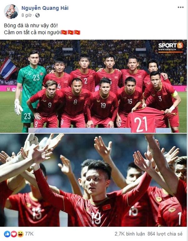 Sau 11 năm mới thắng Thái Lan, tuyển thủ Việt Nam ăn mừng nhận bão like  - 6