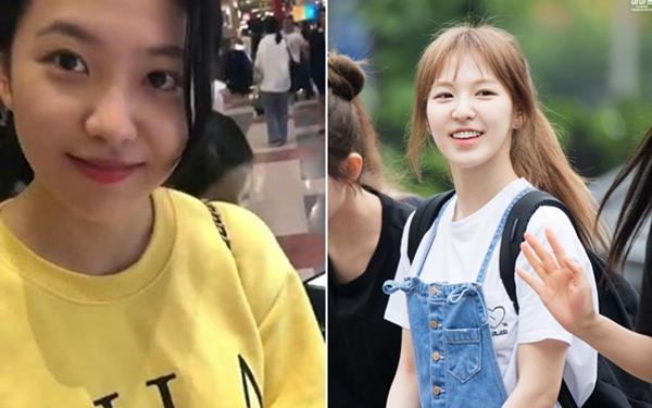 Yeri (trái) là thành viên siêng để mặt mộc nhất Red Velvet. Wendy cũng ghi điểm nhờlàn da trắng bóc, nụ cười tươi đầy sức sống.