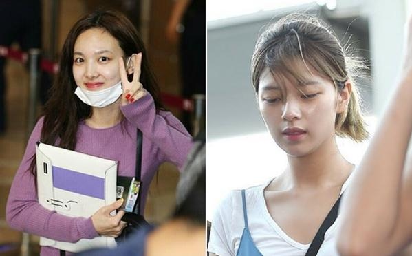 Trong những chuyến bay dài, Na Yeon và Jeong Yeon hạn chế tối đa son phấn để giữ làn da khỏe mạnh,