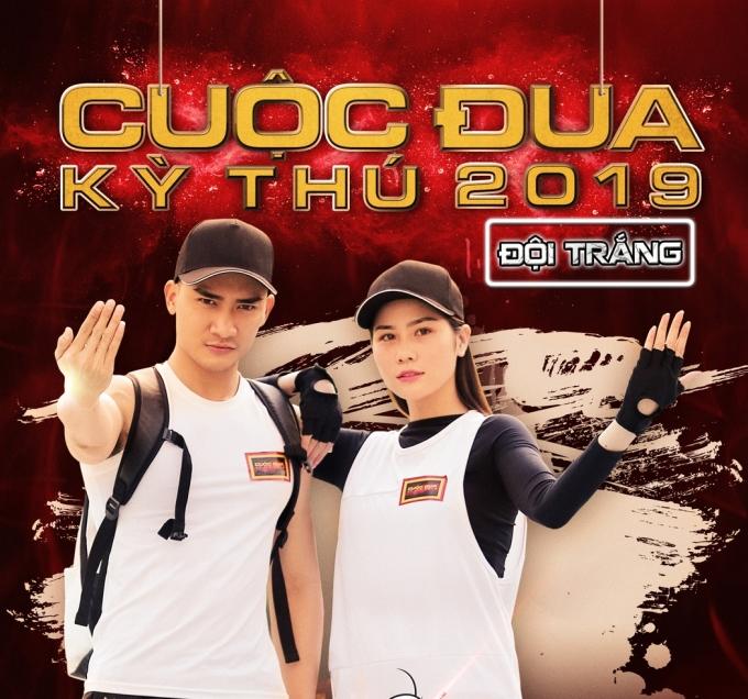 <p> Á hậu Hoàng Hạnh đồng hành với siêu mẫu Lương Gia Huy trong đội Trắng.</p>