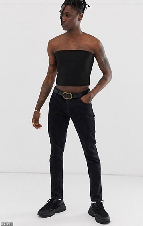 Mẫu áo quâydành cho phụ nữ được ASOS sáng tạo phiên bản nam.