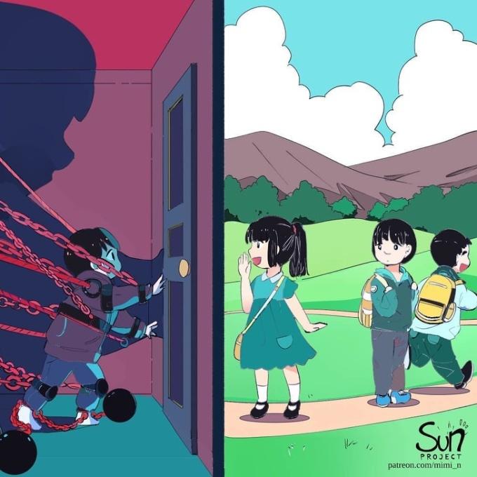 <p> Bạn có từng ao ước được ra ngoài chơi với bạn bè? Chỉ cách một cánh cửa, mà sao cảm thấy xa vời đến thế?</p>