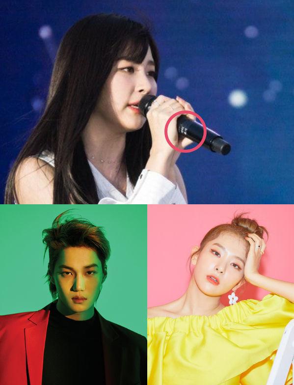 <p> Seul Gi (Red Velvet) chia sẻ mic với tiền bối Kai (EXO). Cả hai đều sở hữu phong thái sexy, cuốn hút trên sân khấu.</p>