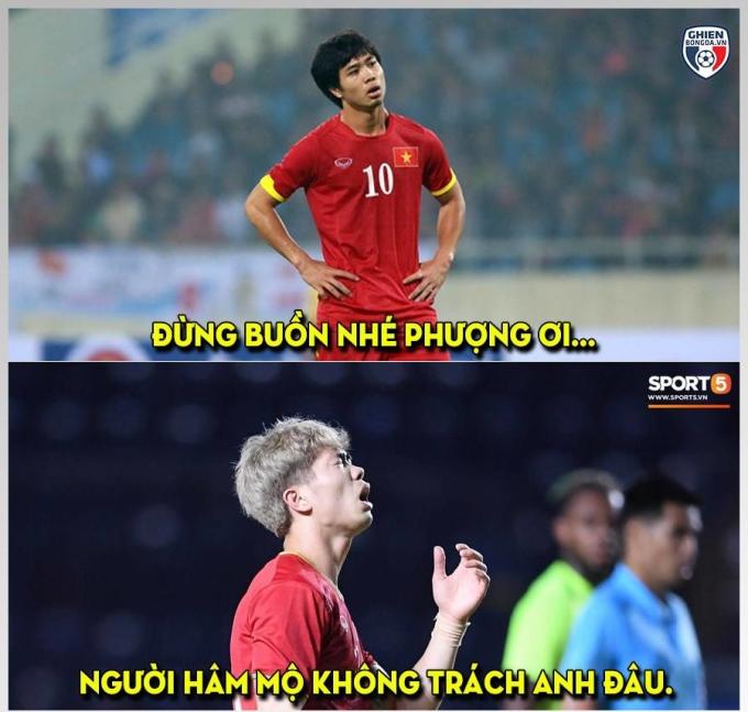 <p> Dẫu vậy, người hâm mộ Việt không trách Công Phượng vì anh đã chơi đầy nỗ lực.</p>
