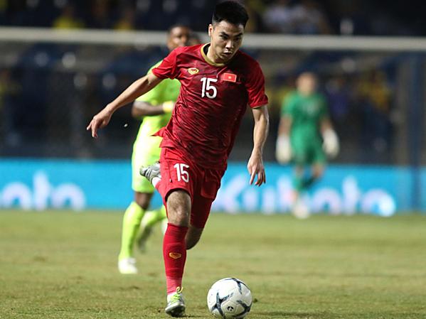 Đức Huy thi đấu trọn vẹn 90 phút, ghi bàn gỡ hòa cho Việt Nam.
