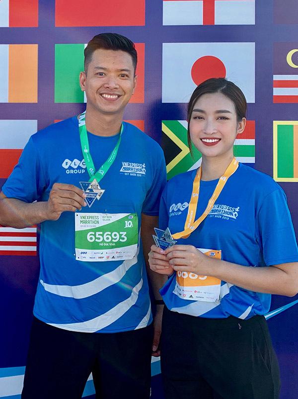 <p> Đỗ Mỹ Linh cũng tức tốc bay ra Quy Nhơn để tham gia giải chạy sau buổi họp báo Cuộc đua kỳ thú 2019 tại TP HCM. Cô chinh phục thành công quãng đường 5 km.</p>