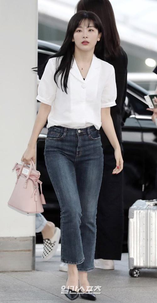 Seul Gi sở hữucặp chân dài dù không có chiều cao vượt trội.