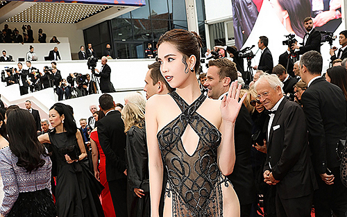 Ngọc Trinh tại Cannes.