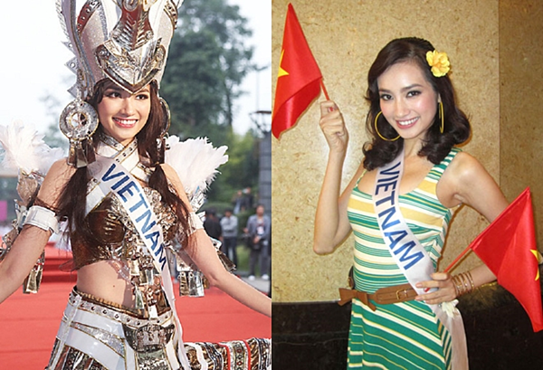 Trúc Diễm với nhan sắc nổi bật tại cuộc thi Hoa hậu Quốc tế 2011 tại Trung Quốc. Cô vào top 15 chung cuộc.