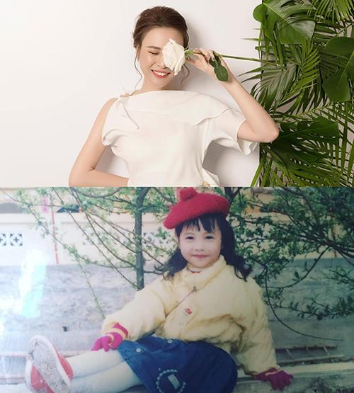 Cường Đô la so sánh ảnh Đàm Thu Trang ngày bé và hiện tại. Nhiều người nhận xét hôn thê của doanh nhân có thần thái từ bé.
