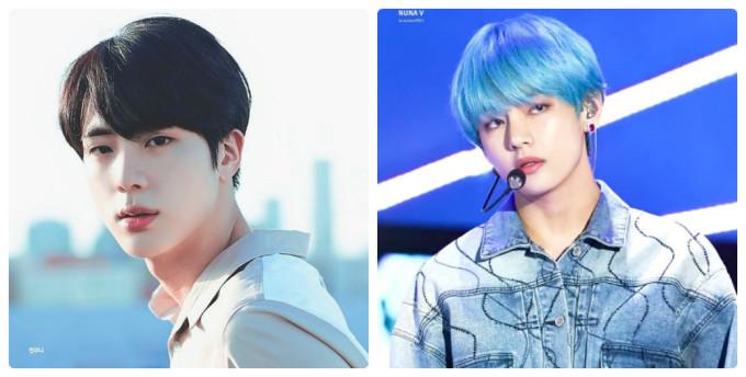 <p> Big Hit chọn Jin (trái) là visual của BTS và anh chàng cũng rất xứng đáng với vị trí này. Tuy nhiên, người được công chúng khen ngợi nhiều về nhan sắc lại là V. Nam idol có nét đẹp ''siêu thực'', biến hóa với nhiều phong cách.</p>