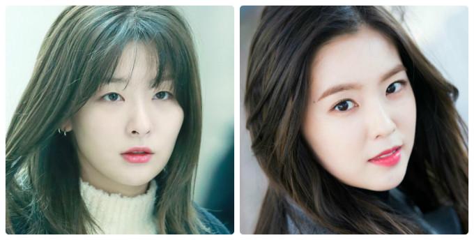<p> Khi Red Velvet debut, Seul Gi (trái) được giới thiệu với vai trò visual. Tuy nhiên, Irene lại nhận được nhiều lời khen của netizen, người hâm mộ nhờ khuôn mặt ''tỷ lệ vàng''. Cô nàng vừa là leader, vừa là người đại diện nhan sắc cho nhóm.</p>