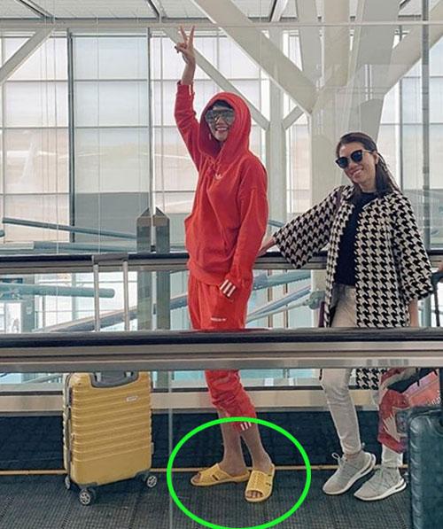 HHen Niê mang dép tổ ong ra sân bay sang Canada nên hay không?