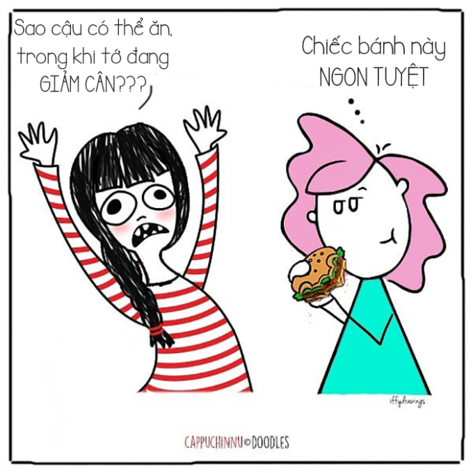 """<p> Bạn đang muốn giảm cân nhưng hội bạn thân lại """"khơi gợi"""" cảm giác thèm ăn trong bạn.</p>"""