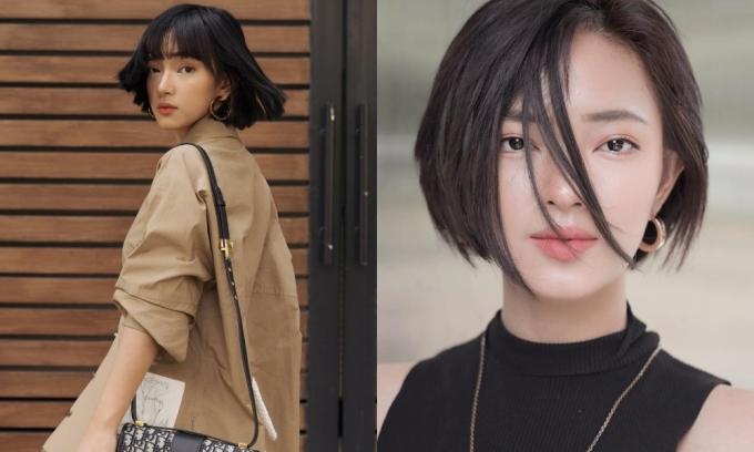 <p> So với mái tóc dài, Châu Bùi khi để tóc ngắn cắt lệch hay đầu vuông đều trông cá tính hơn hẳn. Mỹ nhân sinh năm 1997 luôn cho thấy màu sắc thời trang rất riêng biệt.</p>