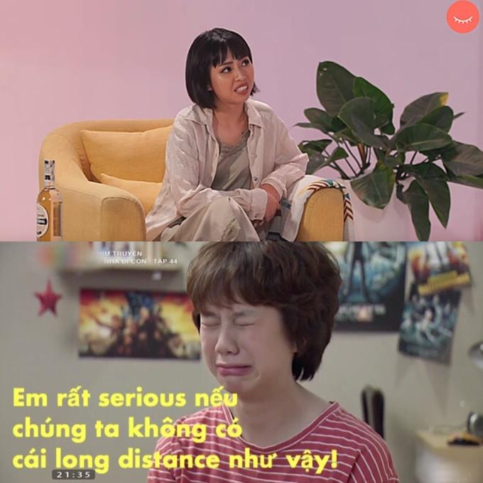 """<p> Khi Ánh Dương nói chuyện bằng tiếng Việt nhưng lại thích """"chêm"""" vài từ tiếng Anh cho Tây.</p>"""