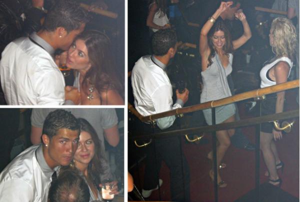 Ronaldo và cô gái tố cáo anh, Kathryne Mayorga bị bắt gặp ở hộp đêm.