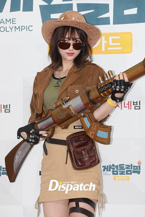 Sự kiện Game Dolympic năm nay còn có sự tham gia của một số idol như NewSun (Sonamoo). Cô nàng hóa thành nhân vật Safari Catlyin của Liên Minh Huyền Thoại.