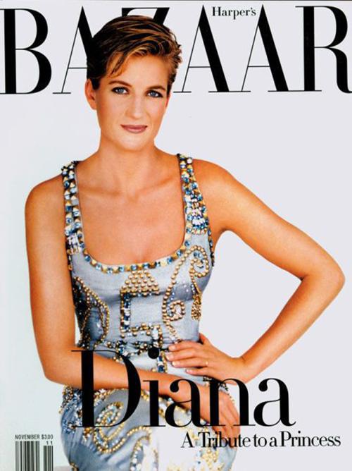 Diana diện chiếc váy Versace trong một buổi chụp hình năm 1991, sau đó tạp chí Harpers Bazaar đã đưa hình ảnh lên trang bìa năm 1997 để tưởng nhớ Công nương. Trong buổi đấu giá năm 2015, người hâm mộ đã chi 200.000 USD (hơn 4,6 tỷ đồng) để sở hữu thiết kế đáng nhớ này.