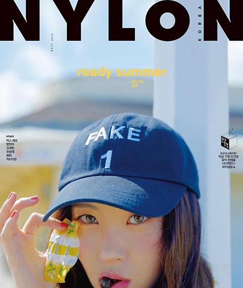 Sun Mi trên trang bìa Nylon.