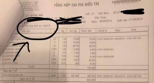 Huỳnh Anh cung cấp cho iOne đơn thuốc chứng minh anh bị dị ứng thức ăn.