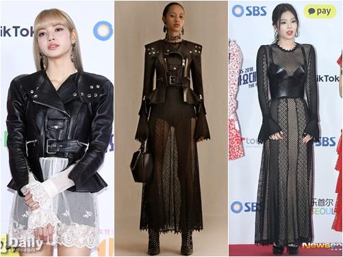 Cùng một bộ trang phục, stylist đã tạo ra cho Lisa, Jennie 2 set đồ vô cùng độc đáo để đi thảm đỏ.