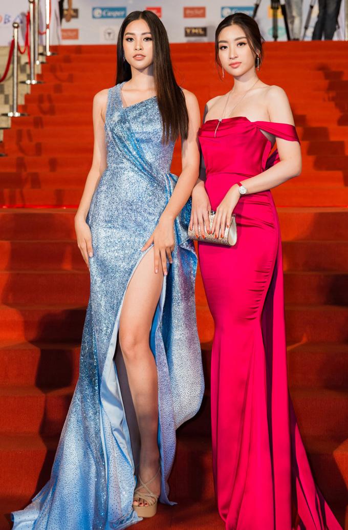 <p> Đỗ Mỹ Linh - Tiểu Vy đọ sắc vóc. Họ được chọn là đại sứ của cuộc thi năm nay.</p>