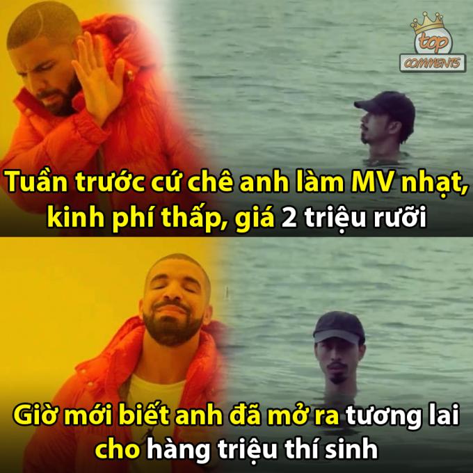 <p> Việc nam rapper trầm mình trong nước xuyên suốt hơn 3 phút trong MV bất ngờ được nhắc lại.</p>