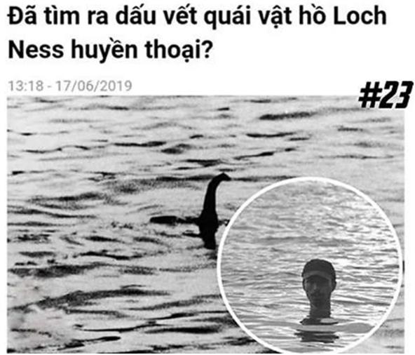 Đen Vâu bị chế ảnh là Quái vật hồ LochNess.