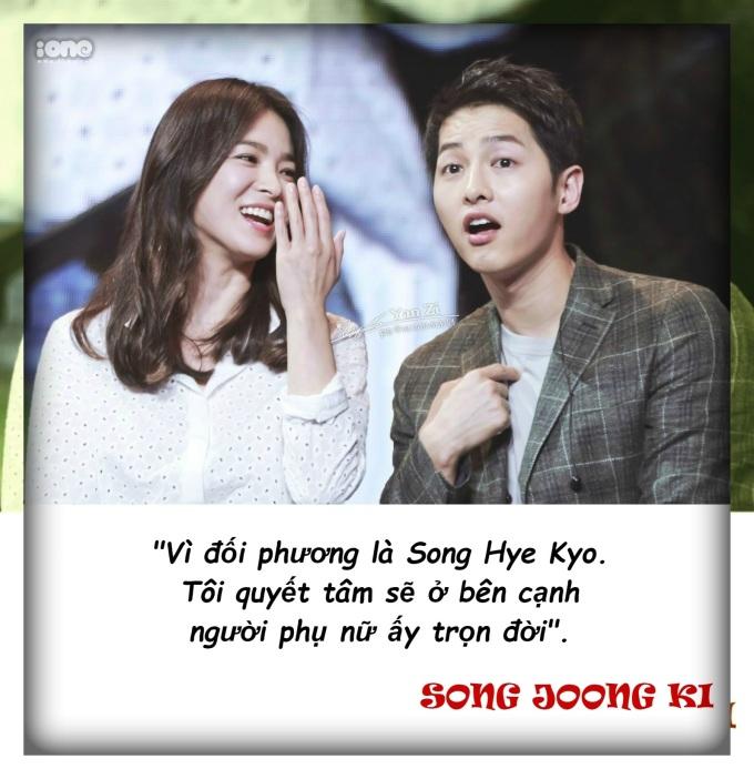 12 câu nói đậm ngôn tình Song Joong Ki từng dành cho vợ