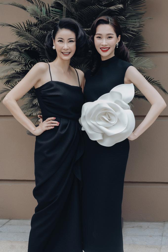 <p> Hai thế hệ của Hoa hậu Việt Nam là Hà Kiều Anh và Đặng Thu Thảo cùng đọ sắc.</p>