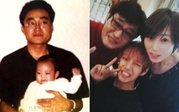 Những bức ảnh trong quá khứ của V cùng bố được fan đào lại.